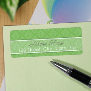 Personalized Damask Address Labels