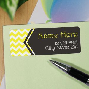 Personalized Chevron Address Labels