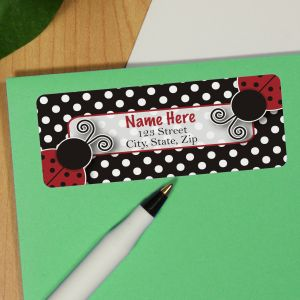 Personalized Lady Bug Address Labels