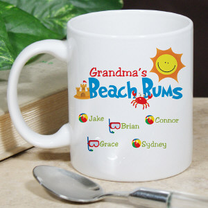 Personalized Beach Bums Coffee Mug