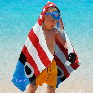 Embroidered Pirate Hooded Beach Towel E749097