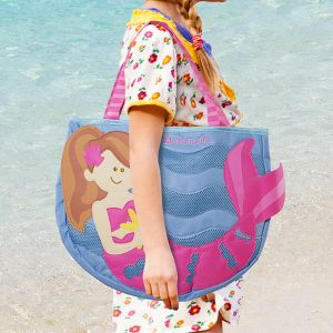 Embroidered Mermaid Beach Tote with Toys