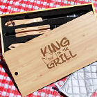 Personalized King of the Grill Barbeque Grill Set