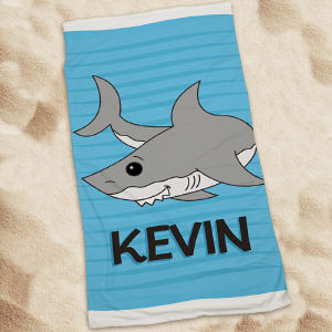 Personalized Shark Beach Throw
