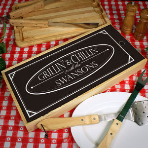 Personalized Family BBQ Tool Kit