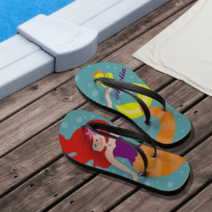 Personalized Mermaid Flip Flops