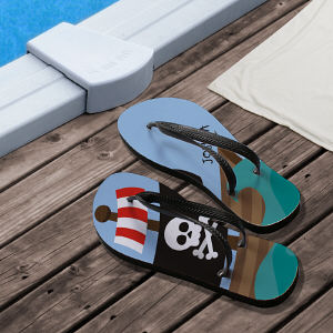 Personalized Flip Flops for Him