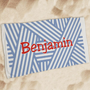 Personalized Stripes Beach Throw