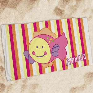 Personalized Fish Beach Towel
