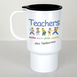 Personalized Make Each Child Count Teacher Travel Mug T211210