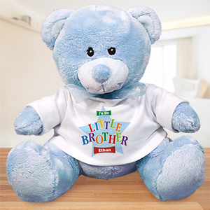 Personalized Big Brother Teddy Bear - Star Design | Big Brother Gifts