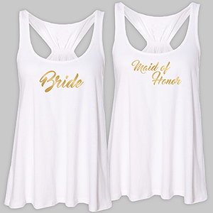 Personalized Bridal Party White Tank Top TT310407WHX