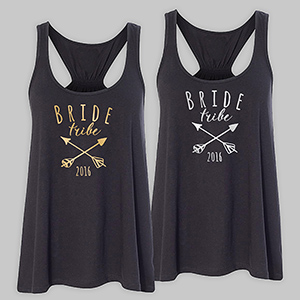 Personalized Bride Tribe Black Tank Top