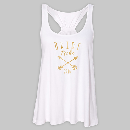 Personalized Bride Tribe White Tank Top | Personalized Bridesmaid Shirts