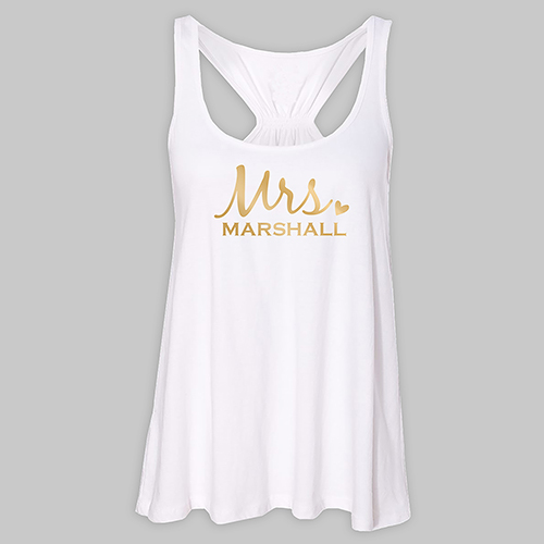 Personalized Mrs. White Tank Top | Mrs T Shirts