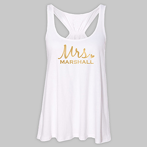 Personalized Mrs. White Tank Top TT39442WHX