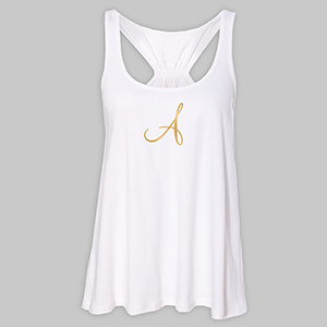 Personalized Initial White Tank Top