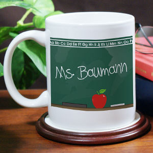Chalkboard Teacher White Coffee Mug