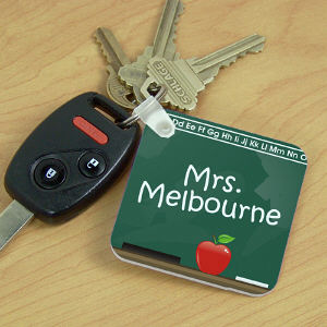 Teacher Key Chain Chalkboard Design