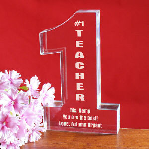 Number One Teacher Personalized Keepsake