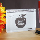 Engraved Teachers Apple Keepsake Paperweight