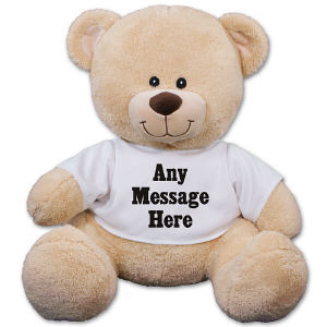 Custom Message Teddy Bear