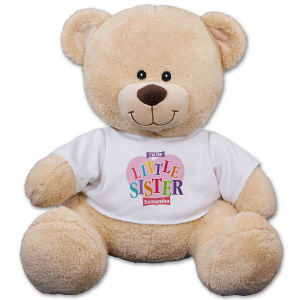Personalized Sister Heart Teddy Bear