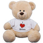 Personalized I Love Teddy Bear