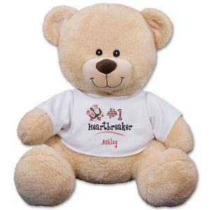 Personalized Number One Heartbreaker Teddy Bear