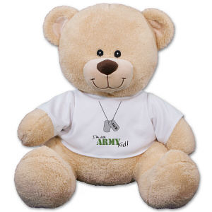 Personalized Army Kid Teddy Bear