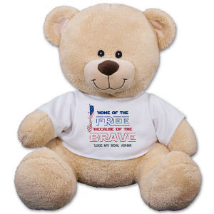 Personalized Home of the Free Teddy Bear
