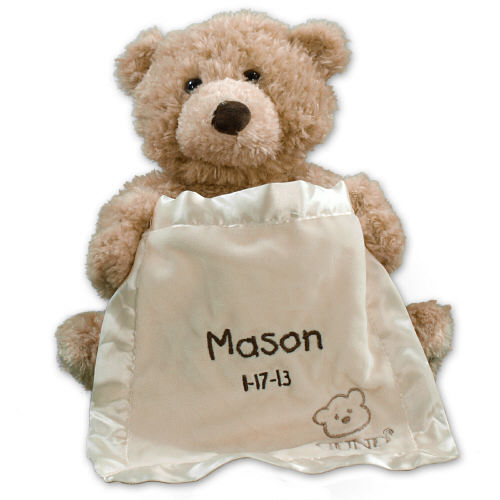 Embroidered Peek A Boo Bear | Personalized Baby Gifts