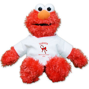 Personalized Candy Cane Elmo Doll