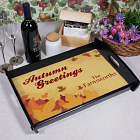 Autumn Greetings Personalized Serving Tray