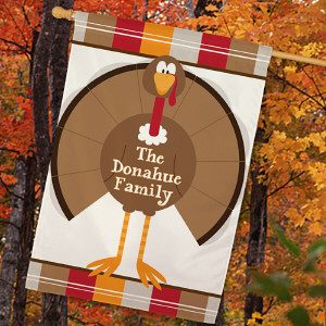 Personalized Turkey Welcome House Flag 83030682L