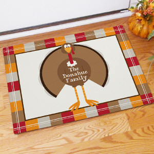 Welcome Turkey Personalized Doormate 83130687