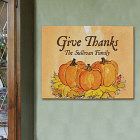 Give Thanks Personalized Canvas Wall Art