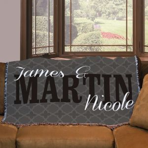 Personalized Couples Throw Blanket 83077555