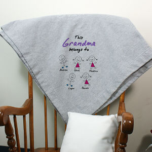 Personalized Belongs To Fleece Blanket D25071