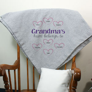 Personalized Heart Belongs To Fleece Blanket D59331