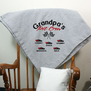 Personalized Pit Crew Fleece Blanket