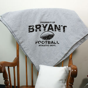 Personalized Property Of Sports Fleece Blanket