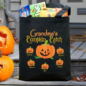 Pumpkin Patch Personalized Halloween Tote Bag 836432BK