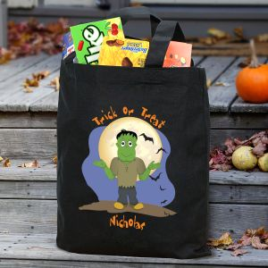 Halloween Icon Personalized Trick or Treat Bag 836452BK