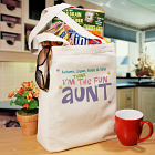 Personalized Fun Aunt Canvas Tote Bag
