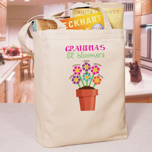 Personalized Lil' Bloomers Canvas Tote Bag