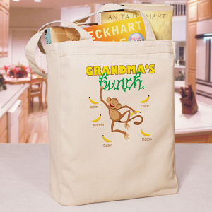 Personalized Monkey Bunch Tote Bag