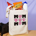 Mom's Hearts Canvas Tote Bag 858612