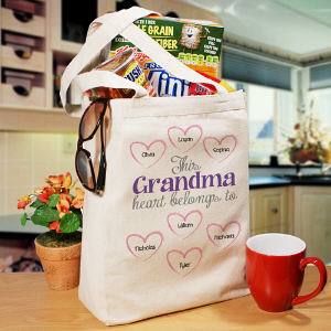 Personalized Heart Belongs To Canvas Tote Bag