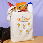 Personalized Halloween Candy Corn Canvas Tote Bag